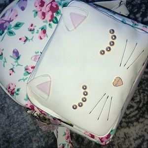 Betsey Johnson Bags - Betsey Johnson Floral Cat Backpack